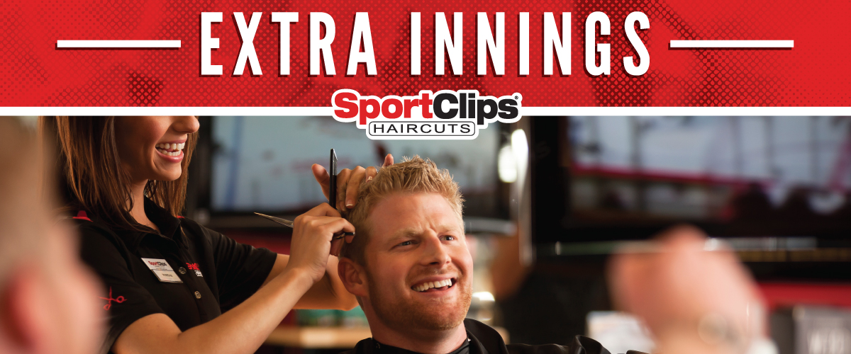 The Sport Clips Haircuts of Bel Air Extra Innings Offerings